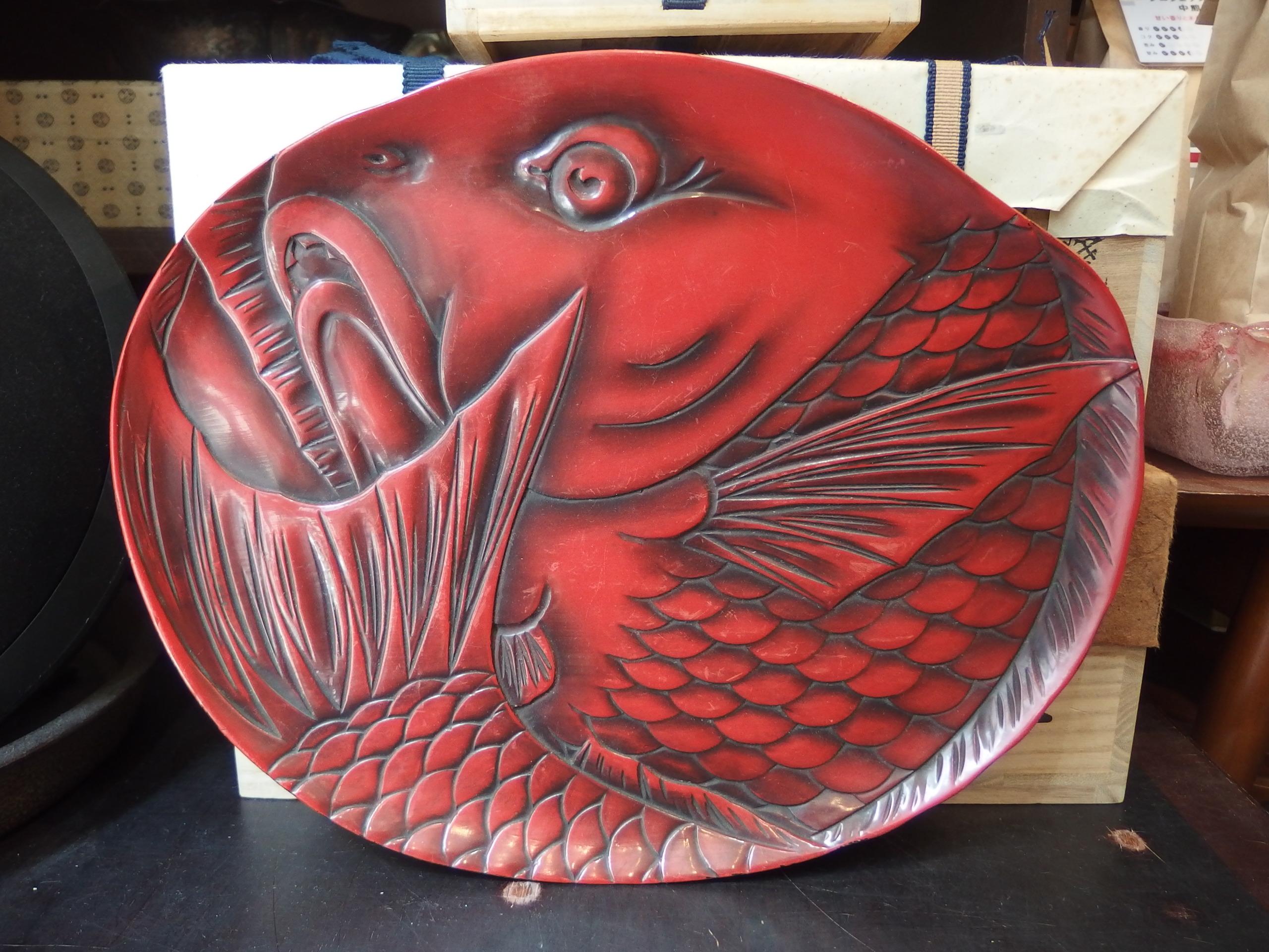 漆器 盆 Japanese lacquerware